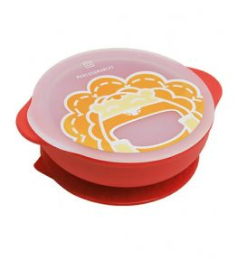 Marcus Marcus MARCUS RED LION Suction Bowl with Lid red lion on printed on the lid and kid friendly.