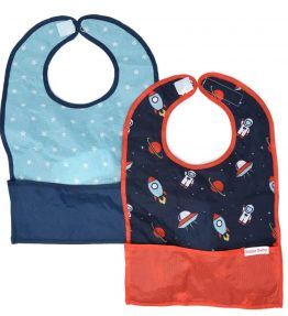 GOBIB TRAVEL FEEDING BIB 2-PACK Space Out and Galaxy