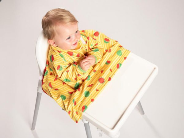 Bib a Do Baby Weaning Coverall Bib Yellow Stripes