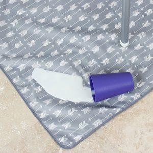 Bumkins Waterproof Splat Mat Grey Arrow