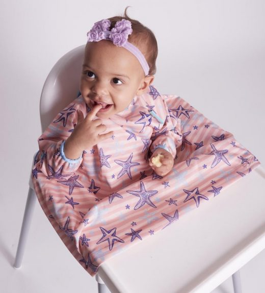 Bib a Do Baby Weaning Coverall Bib Blossom Pink