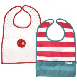 GOBIB TRAVEL FEEDING BIB Bright Stripes