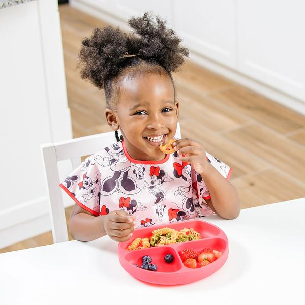 Bumkins Silicone Suction Plate for Toddler Red