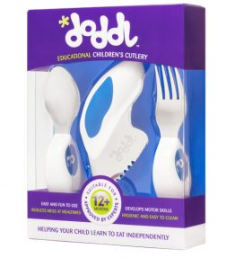Doddl Utensil Set – Blueberry Blue
