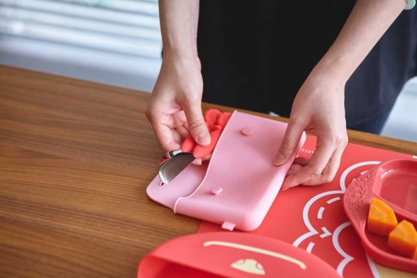 marcus marcus cutlery pouch pink