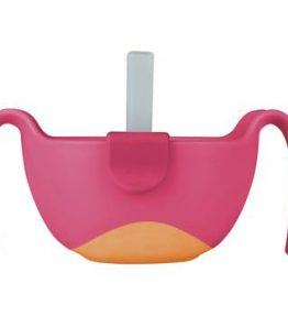 bbox bowl and straw pink