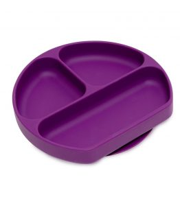 bumkins grip dish purple