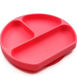 bumkins grip dish red
