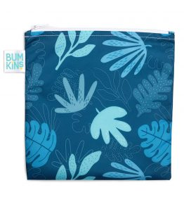 Bumkins Reusable Snack Bag – Large – Blue Tropic