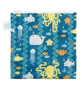 Bumkins Reusable Snack Bag – Large – Sea Friends