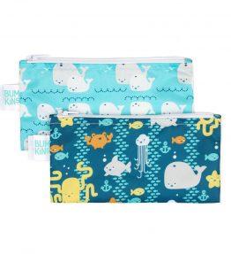 Bumkins Reusable Snack Bag – Small – 2 Packs – Seafriends Whalesaway